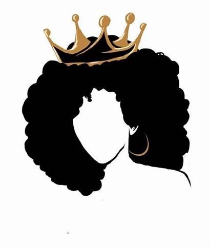 Silhouette Crown Woman Queen Hair Magic Natural