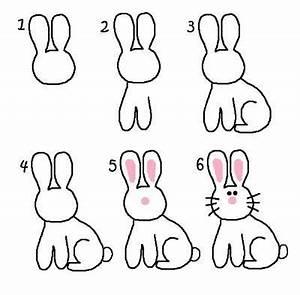 Lapin Facile A Dessiner : dessiner un lapin dessiner pinterest dessin lapin ~ Carolinahurricanesstore.com Idées de Décoration