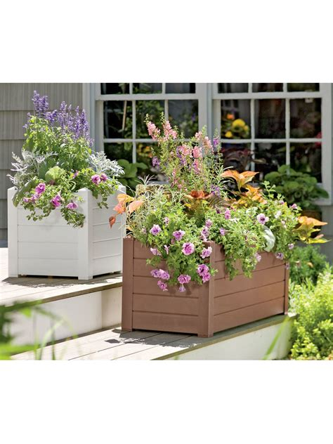 watering terrazza trough planters gardeners supply