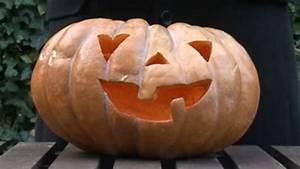 Comment Vider Une Citrouille : vid o comment faire une citrouille lumineuse pour halloween c t maison ~ Voncanada.com Idées de Décoration