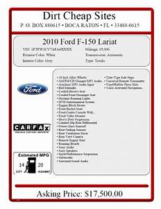 window sticker for car dealership websites With used car window sticker template