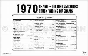 1970 Ford F100 F250 F350 Wiring Diagram Original Factory Pickup Truck Electrical