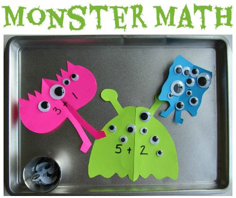 math tray learning after school 812 | monster math tray