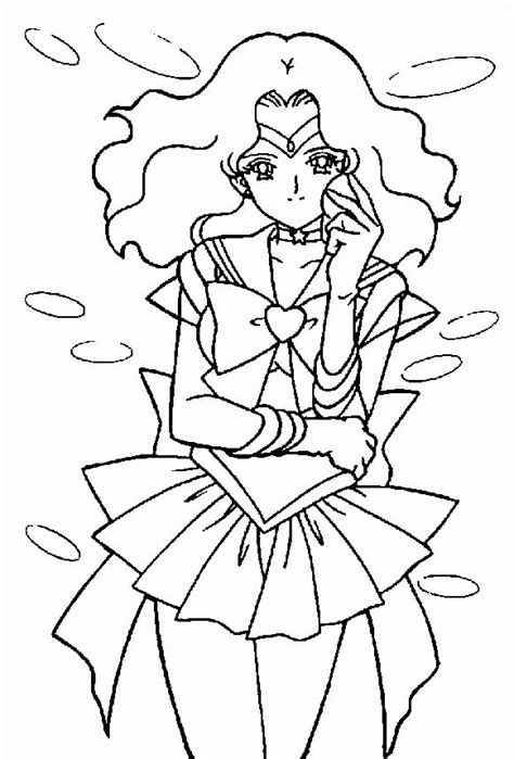 sailor saturn coloring page coloring home