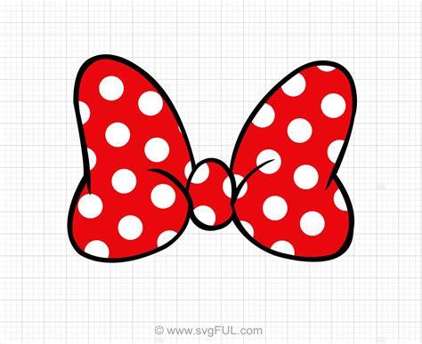 minnie mouse polka dot bow svg clip svg cut files