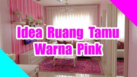 ruang tamu pink purple desainrumahidcom