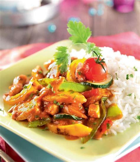cuisine au wok wok de légumes au poulet sauce tandoori cuisine wok