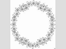 Blueten Bilden Rahmen Ausmalbild & Malvorlage Blumen