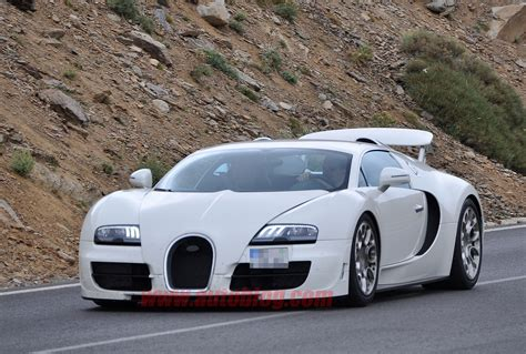 How Fast Is The Bugatti Veyron Sport by Bugatti Testing Hotter Veyron Grand Sport Ss Autoblog