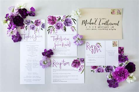 purple flower wedding invitations wedding invitations