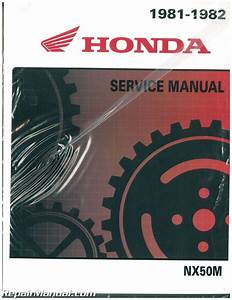 1981 1982 Honda Nx50 Urban Express Sr Scooter Service Manual