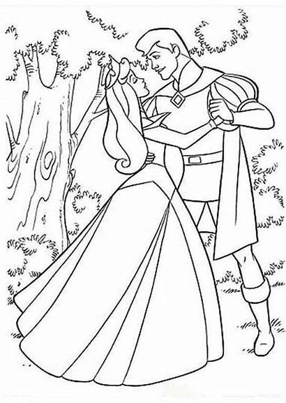 Coloring Prince Princess Aurora Pages Printable Phillip