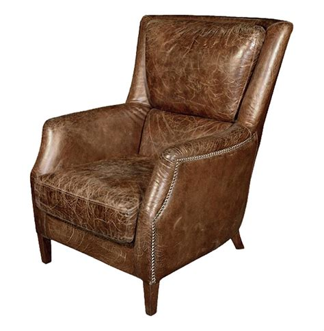 distressed leather recliner chelsea classic masculine room distressed cigar leather