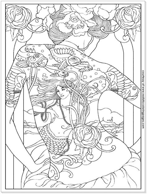 8 Tattoo Design Adults Coloring Pages | Realistic Coloring Pages