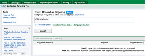 googles contextual targeting tool ppc hero