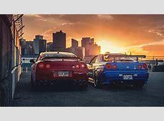 Nissan Skyline City Sunset Cars Desktop HD Wallpaper