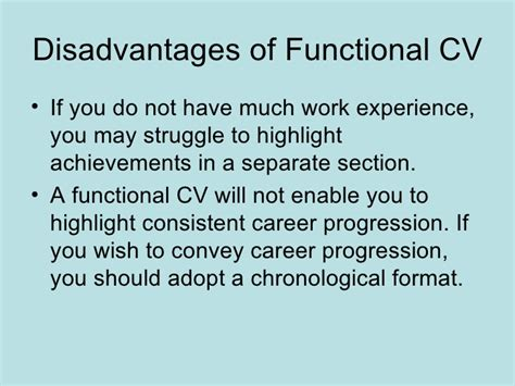Chronological Resume Pros And Cons by Functional Resume Advantages And Disadvantages