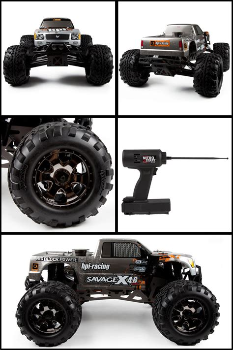 nitro rc monster trucks hpi savage x 4 6 2 4ghz rtr nitro rc monster truck