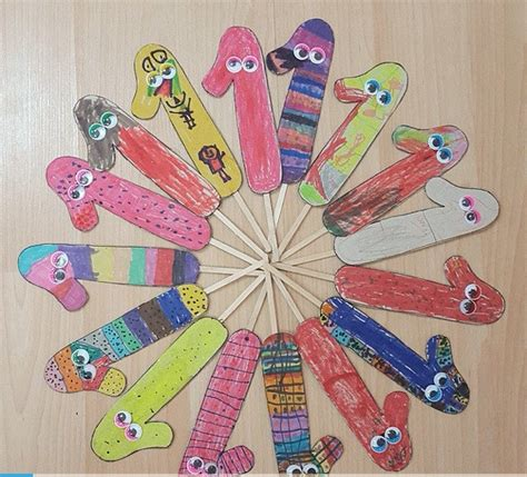4 seasons craft crafts and worksheets for preschool 869   number 1 puppet 1
