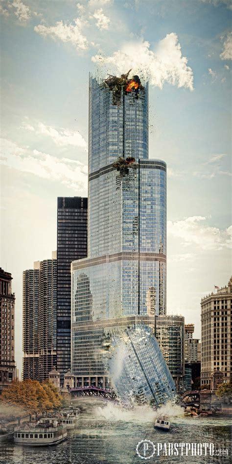 trump tower photoshop speed art destroyed wedding