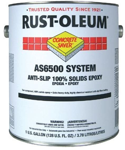 100 Solids Epoxy Garage Floor Coating by Rust Oleum As6500 System