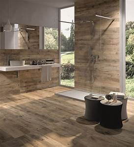 wood look tile 17 distressed rustic modern ideas With salle de bain parquet