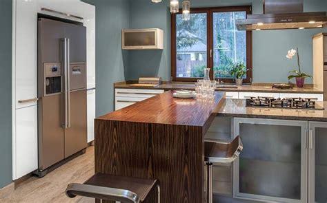 barras de cocina hechas  madera  ideas