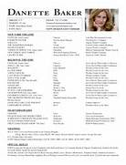 Resume Danette Baker Acting Resume Resume Acting Resume Template Free Acting Resume Samples And Examples Ace Your Audition How Beginner Acting Resume Beginner Acting Resume Acting Resume Resume For A Beginner Jeff Washburn Actor Resume Template Sample