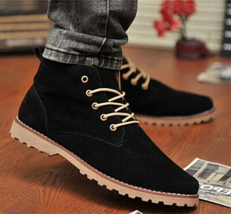 New Nubuck Leather Shoes Men Sneaker Flats