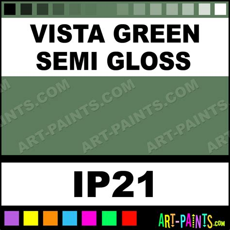 vista green semi gloss industrial metal and metallic