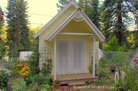 build your own crafting cottage or garden shed flower