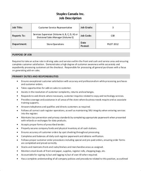 Customer Service Resume Exles by Customer Service Description Resume Cover Letter