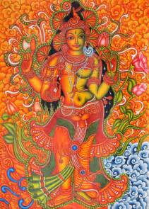 kerala mural artists ardhanarishvara in contemporary and folk