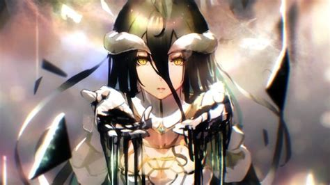 albedo overlord anime  hd wallpaper seni