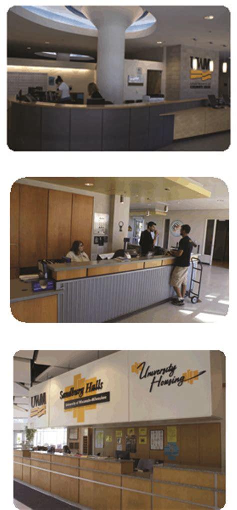 uwm sandburg front desk service desks university housing