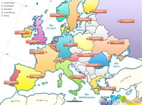 Carte Europe Et Ses Capitales by Infos Sur Europe Et Ses Capitales Arts Et Voyages