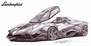 Lamborghini Egoista Single Seater Drawing by toyonda on ...