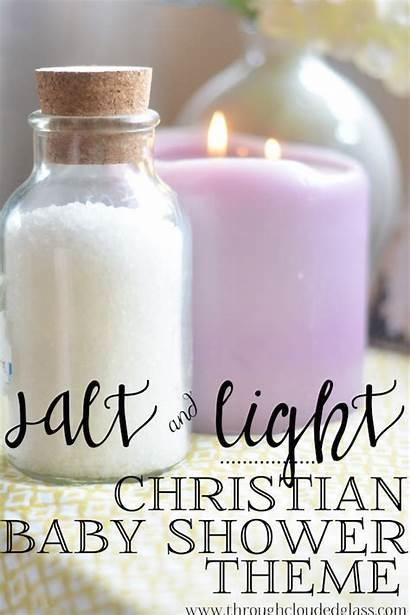 Christian Shower Theme Salt Idea Verse Glass