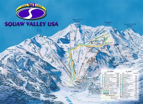 squaw valley piste map trail map