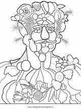 Arcimboldo Coloring Giuseppe Printablecolouringpages Larger Credit sketch template