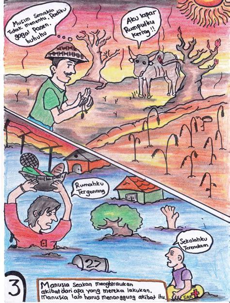 komik strip tentang kerusakan lingkungan