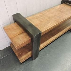 Meuble Tv Metal Bois : meubles tv et tables de salon ~ Teatrodelosmanantiales.com Idées de Décoration