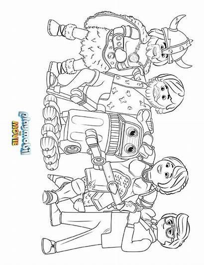 Playmobil Coloring Sheet