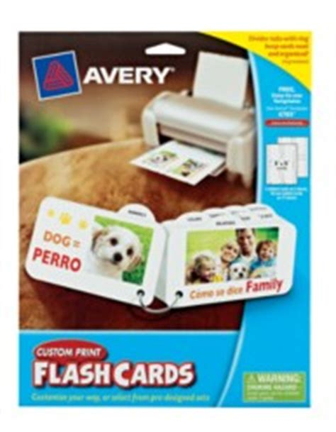 Avery Custom Print Flash Cards Punched Flash Cards Avery 174 Custom Print Flash Cards 4783 With 8