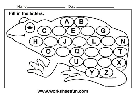 free printable missing alphabet letter worksheets fill