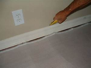 installing baseboard remove and install With gap between floor and baseboard