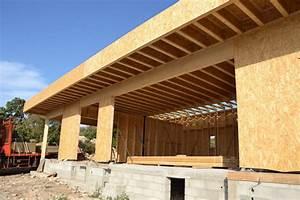 Toit En Bois : maison toit plat ossature bois ~ Melissatoandfro.com Idées de Décoration