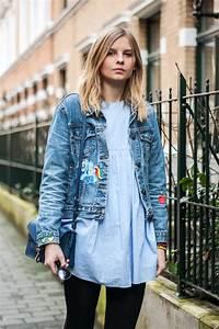 Kleid Mit Jeansjacke : outfit jeansjacke mit patches strawberry pie ~ Frokenaadalensverden.com Haus und Dekorationen