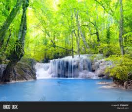 Tropical waterfall in Thailand, nature photography. Fresh ...