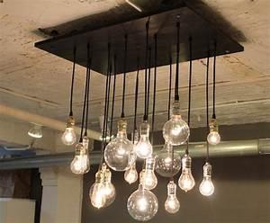 Industrial style chandelier
